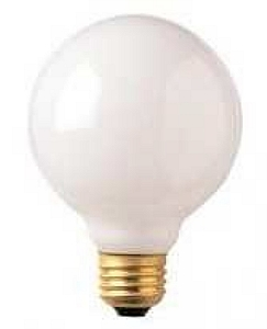8w G40 Globe 2700k E26 Med White Dimmable Hybrid Led Light Bulb