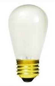 2w S14 2700k E26 Med Frost Silicone Coated Dimmable Hybrid Led Light Bulb