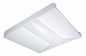 Satco 65 301 65 301 32w Led Troffer Fixture 2ft X 2ft White Dimmable 3500k Iqlighting