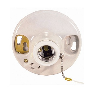 satco 90 444 90 444 glazed porcelain ceiling receptacle on off pull