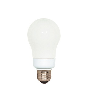 SATCO S9826 LED 6.5W  A19 Silver Crown Medium Base 2700K 650 Lumens 120V E26