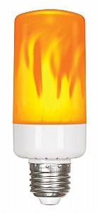 satco s9806 5w led flame bulb 120v iqlighting